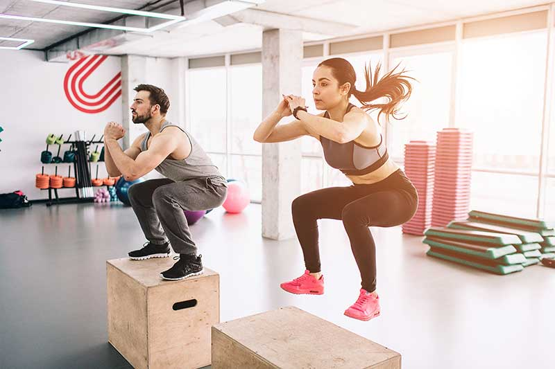 Crossfit exercice de saut